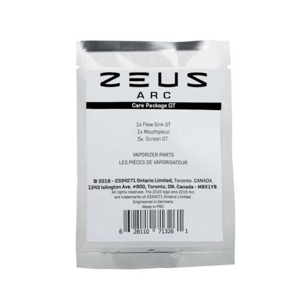 Zeus Arc GT Care Package in zip-locked packging.