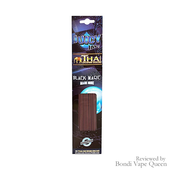 Pack of 20 Black Magic Incense Sticks in black and blue packaging.
