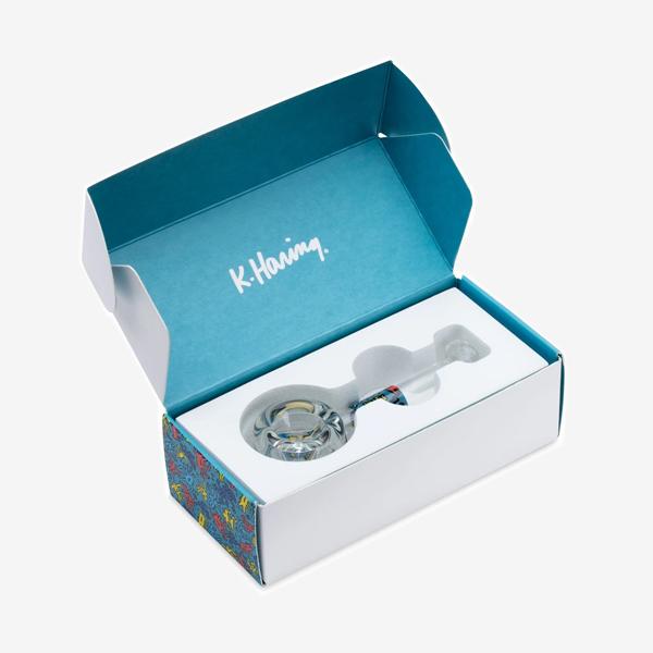 K Haring Spoon Pipe in packaging box.
