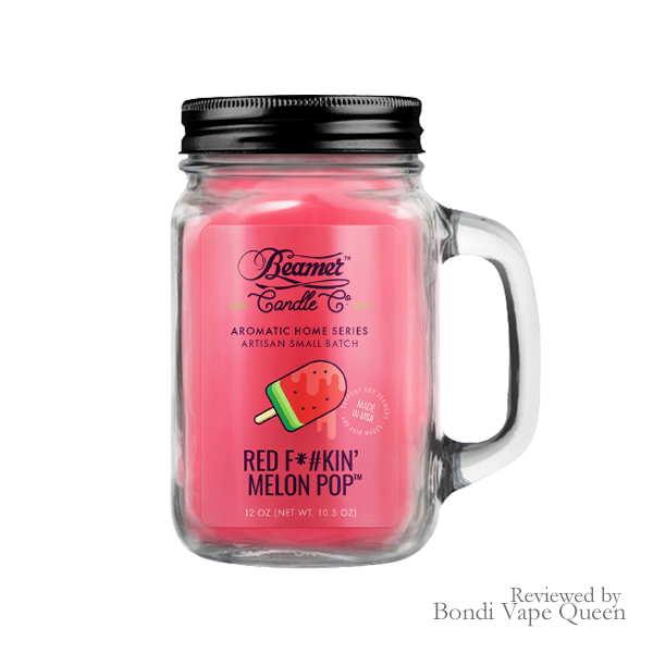 Beamer's Aromatic Home Series Jar Candle in Red F@#kin' Melon Pop