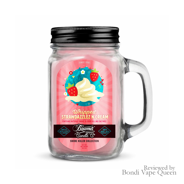 Beamer Smoke Killer Collection Candle in Whipped Strawdazzlez N' Cream