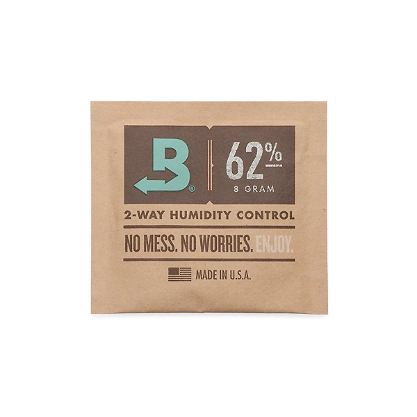 Front of Boveda Humidity Control Pack 62% 4g