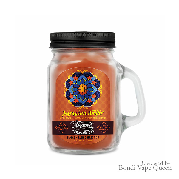 Beamer Smoke Killer Collection Mini Glass Jar Candle (4 ounces) in Moroccan Amber