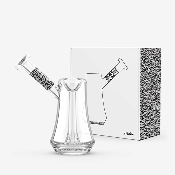 Keith Haring Black and White Bubbler with packaging