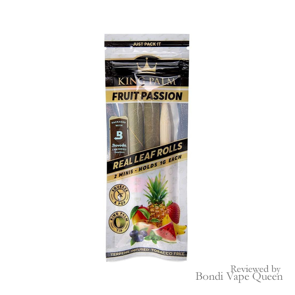 King Palm Mini Leaf Rolls (2-Pack) in Fruit Passion